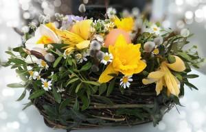весенная декорация цветы укращение