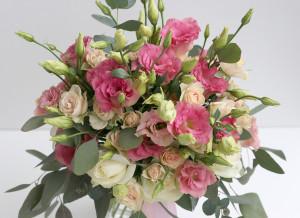 свадебный букет розовый